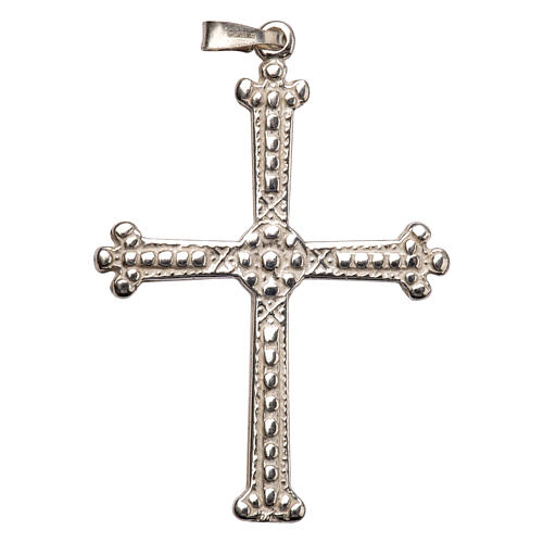 Pendant cross in silver, budded, 5x3,5 cm 1