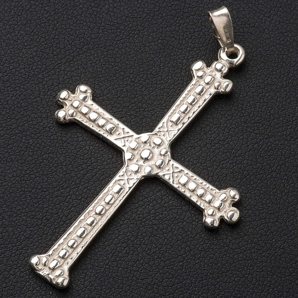 Croix argent 800 trilobée 5x3,5 cm 4