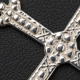 Croce in argento trilobata 5 x 3,5 cm s3