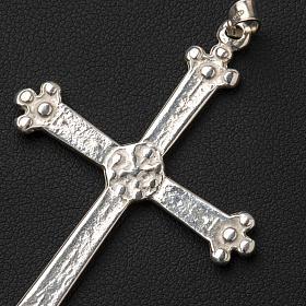 Croce in argento trilobata 5 x 3,5 cm s4