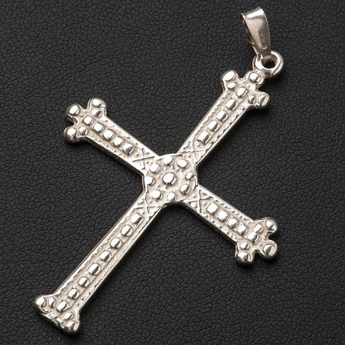 Croce in argento trilobata 5 x 3,5 cm 2