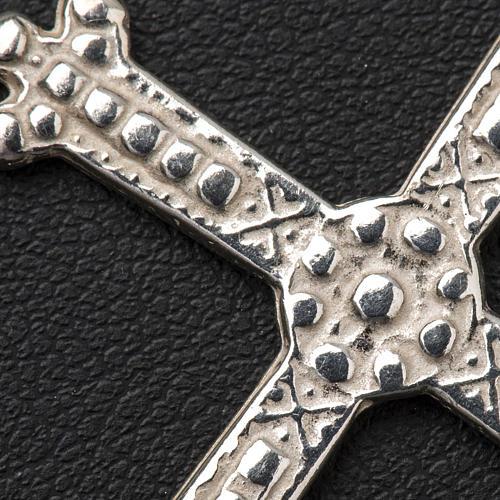 Croce in argento trilobata 5 x 3,5 cm 3