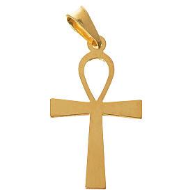 Cruz de la vida dorada de plata 925 s1