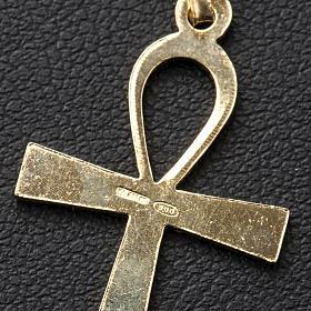 Cruz de la vida dorada de plata 925 s3