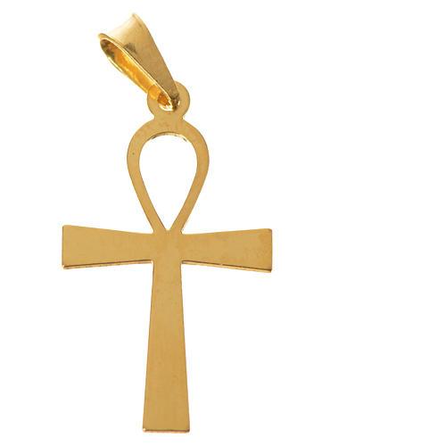 Cruz de la vida dorada de plata 925 4