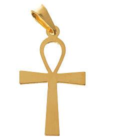 Croce della vita Argento 925 dorata s4