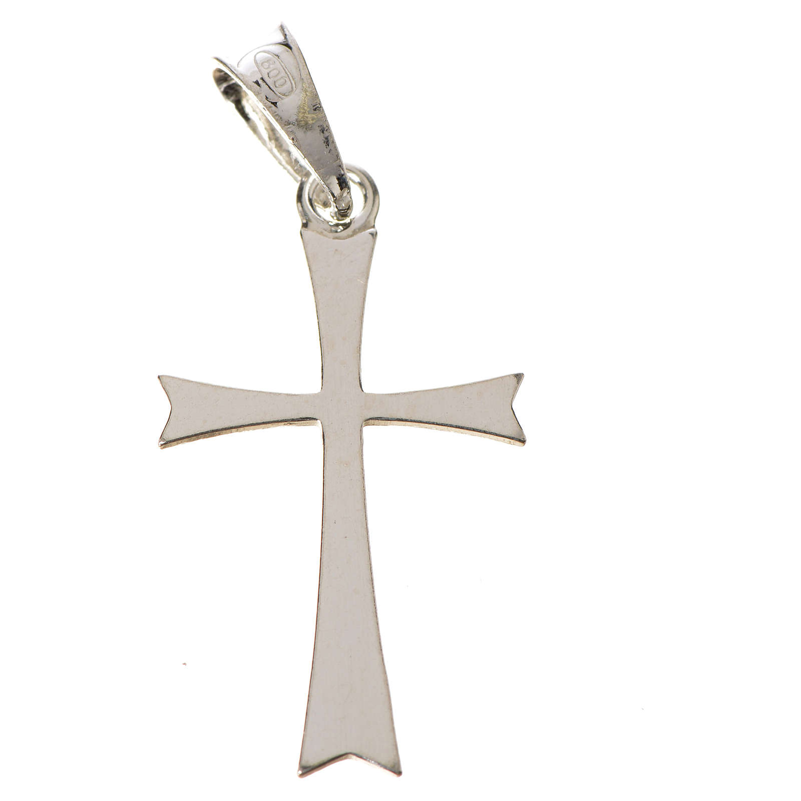 Pendant cross in 925 silver, pointed 4