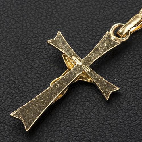 Ciondolo crocefisso Argento 800 dorato 3