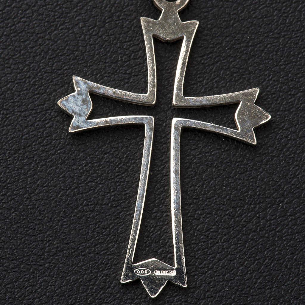 Crucifijo sencillo de plata 4