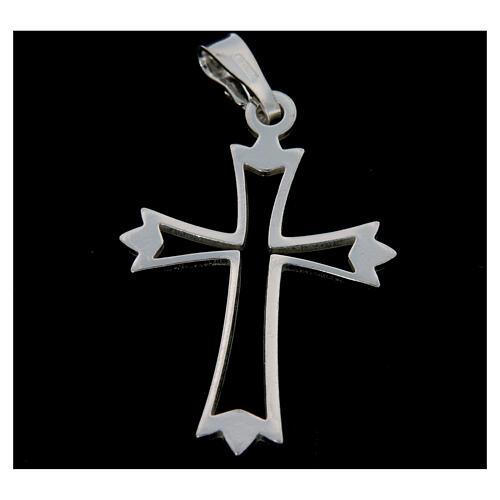 Crucifijo sencillo de plata 2