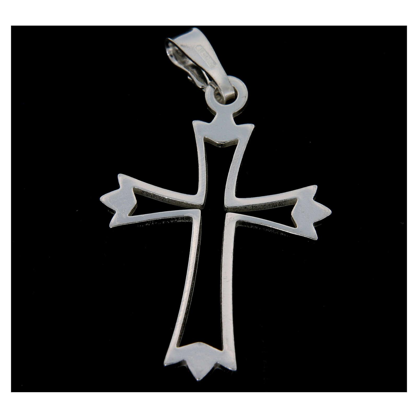 Croce argento 925 sagoma 4