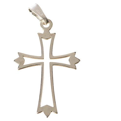 Croce argento 800 sagoma 1