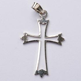 Pendant cross in 800 silver, outline s1