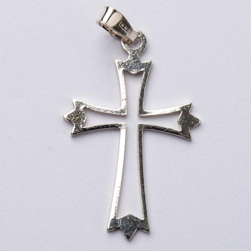 Pendant cross in 800 silver, outline 1