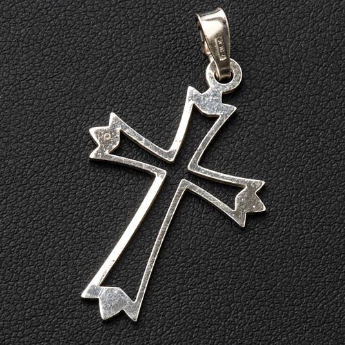 Pendant cross in 800 silver, outline 3