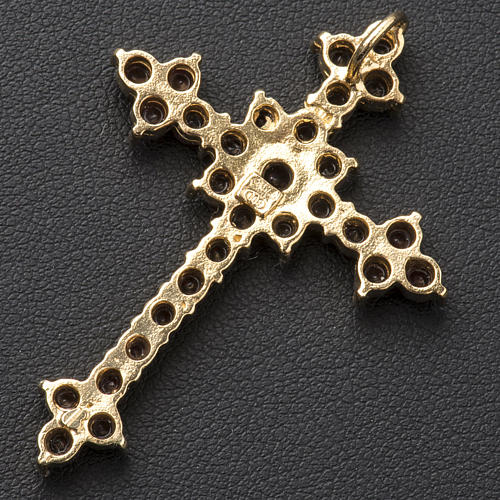 Croce pendente con granato taglio brillante 3