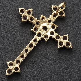 Pendant cross in silver and garnet, round brilliant cut s3