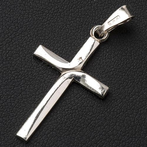 Ciondolo a croce argento 925 cm 3x2 2