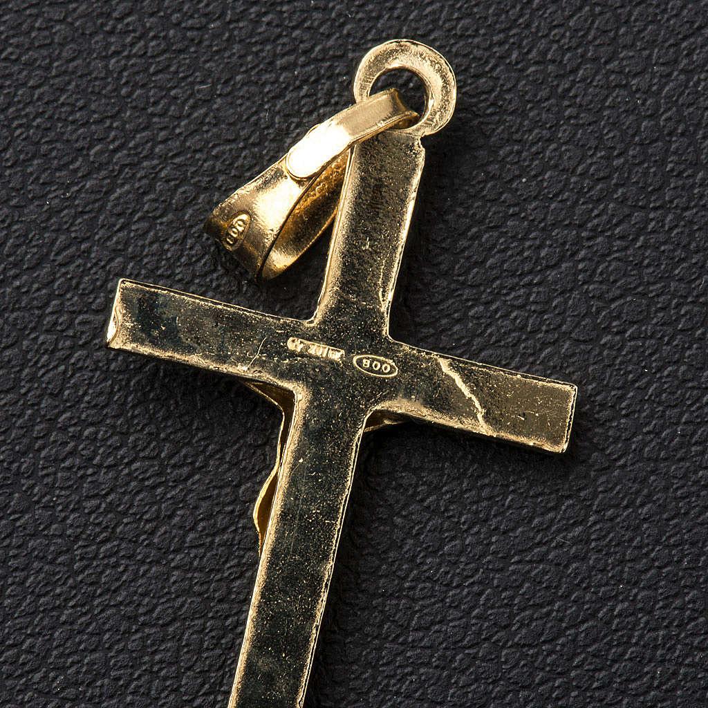 Pendentif croix argent 925 doré 3x2 4