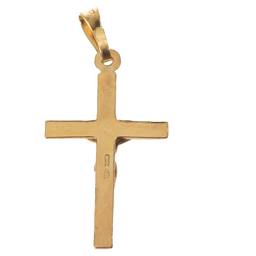 Pendentif croix argent 925 doré 3x2 5