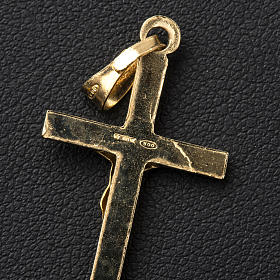 Ciondolo crocefisso 3x2 cm Argento dorato s3