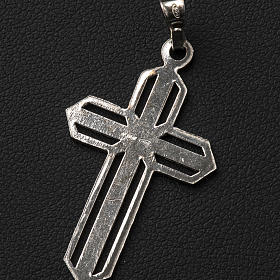 Pendant cross in 800 silver worked in the central part s5