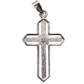 Pendant cross in 800 silver worked in the central part s2