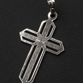 Pendant cross in 800 silver worked in the central part s6