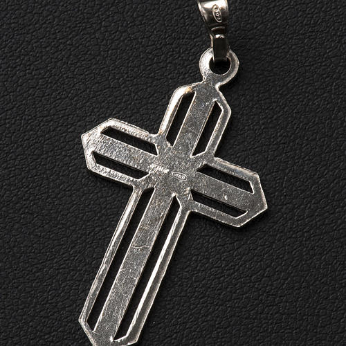 Pendant cross in 800 silver worked in the central part 6
