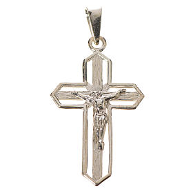Pendant crucifix in 925 silver 2x3 cm, gold-plated s1