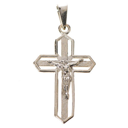 Pendant crucifix in 925 silver 2x3 cm, gold-plated 1