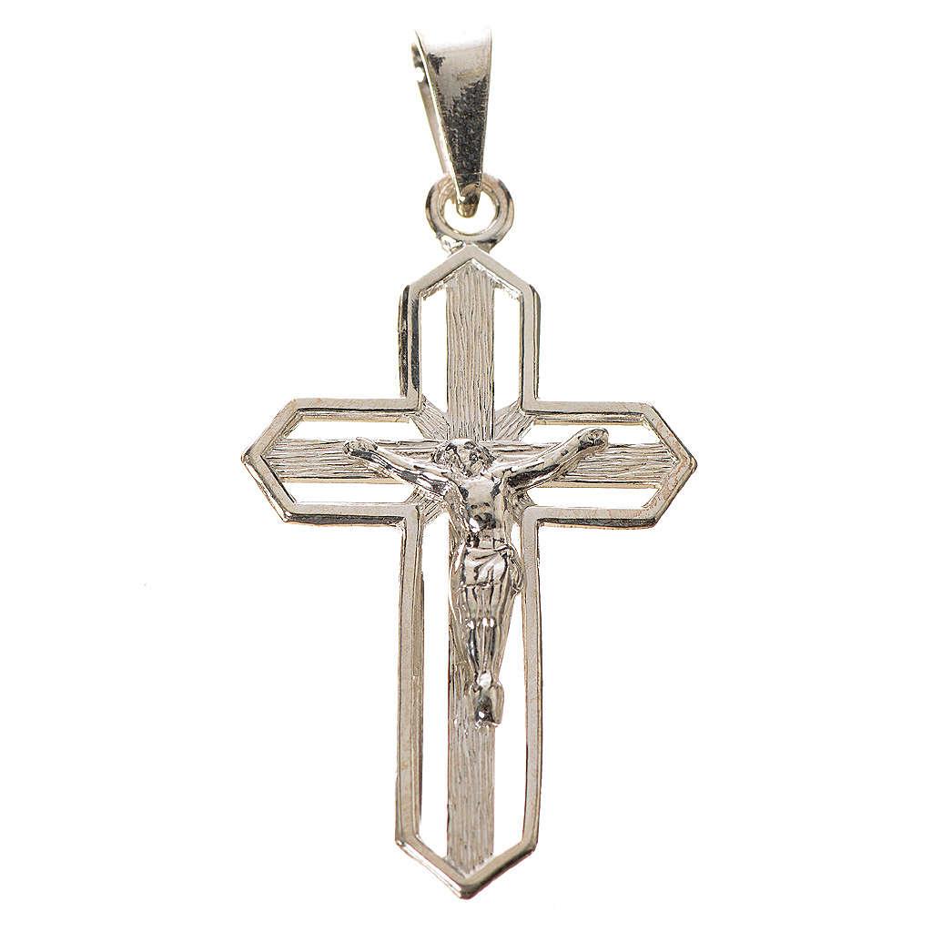 Ciondolo crocefisso dorato argento 925 4