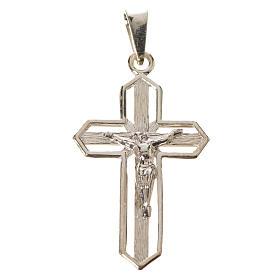 Ciondolo crocefisso dorato argento 925 s4