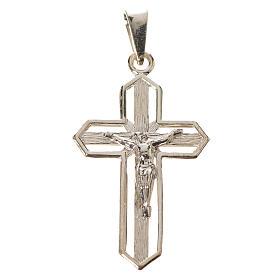 Ciondolo crocefisso dorato argento 925 s1