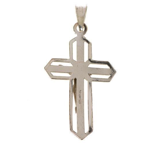 Ciondolo crocefisso dorato argento 925 2