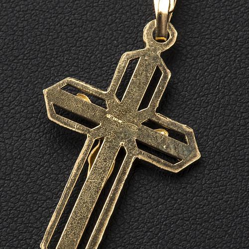 Ciondolo crocefisso dorato argento 925 3