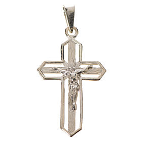 Pendant crucifix in 925 silver 2x3 cm, gold-plated s4
