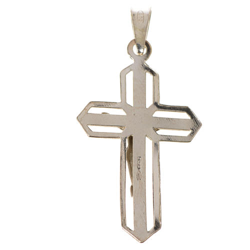 Pendant crucifix in 925 silver 2x3 cm, gold-plated 5