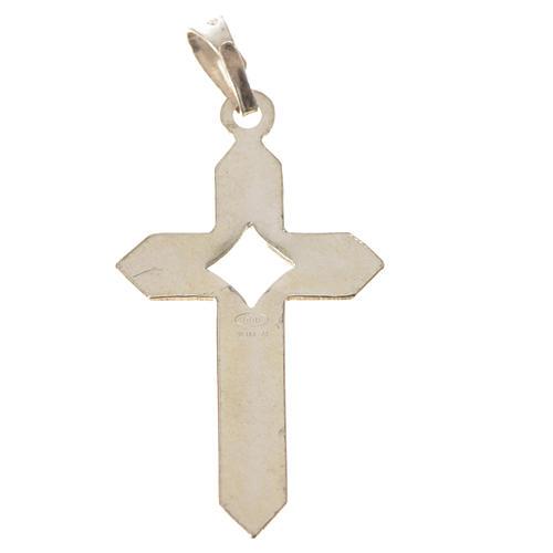 Pendant cross in 800 silver 2x3 cm, herringbone pattern 8