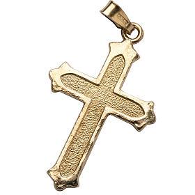 Colgantes, cruces y broches: Colgante dorado de plata 925 texturizado