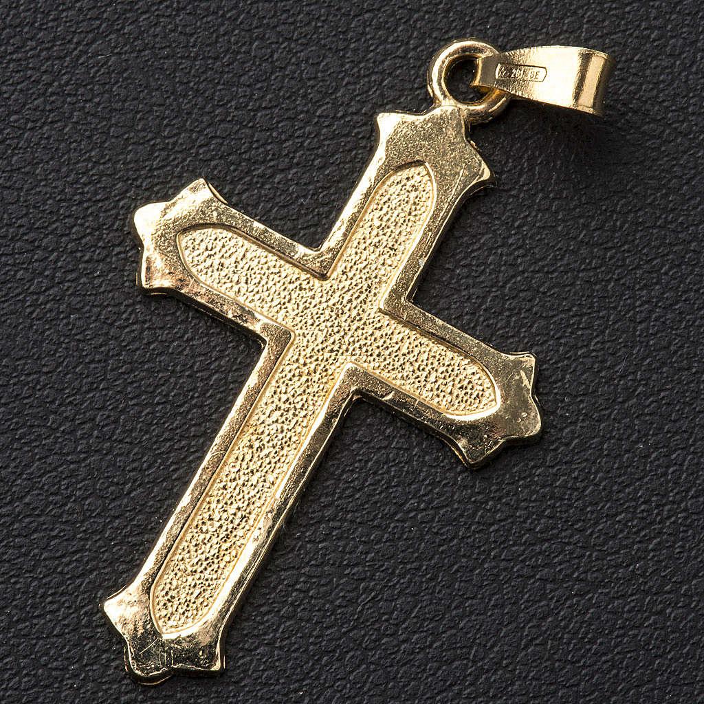 Pendente argento 925 dorato puntinato 4