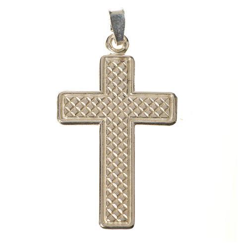 Croce Argento 800 quadrettata 1