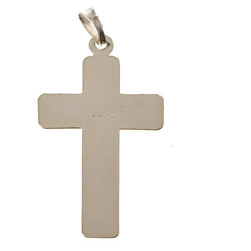 Croce Argento 800 quadrettata 2