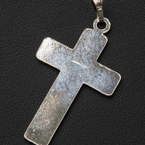 Croce Argento 800 quadrettata 3