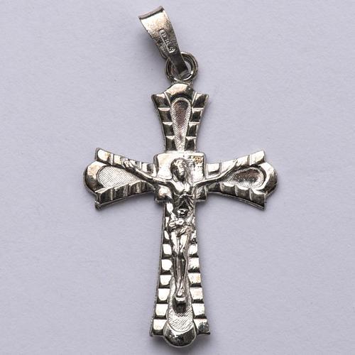 Crucifix gotique argent 800 1