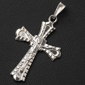 Pendant crucifix in 800 silver, Gothic style s3