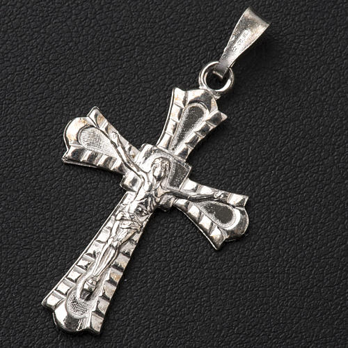 Pendant crucifix in 800 silver, Gothic style 4