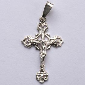 Crucifix trilobé  argent 800 percé s1