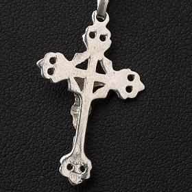 Crucifix trilobé  argent 800 percé s6