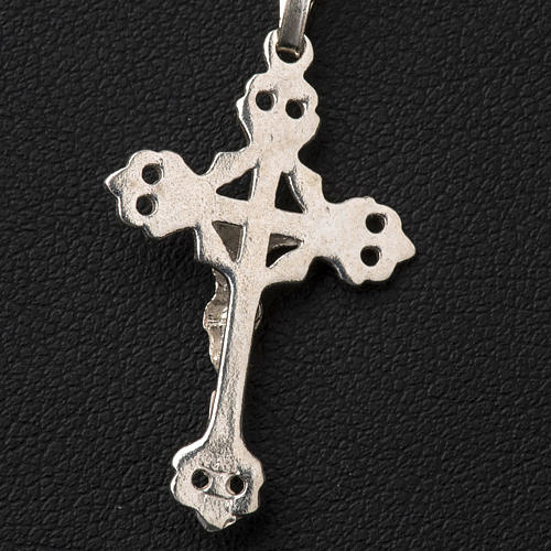 Crucifix trilobé  argent 800 percé 6